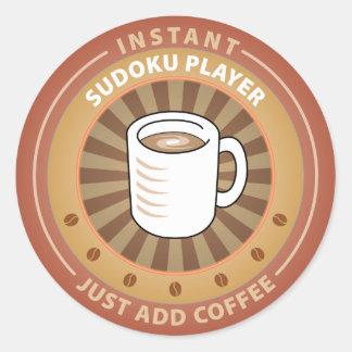 Instant Sudoku Player Classic Round Sticker