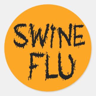 Instant Swine Flu Costume Classic Round Sticker