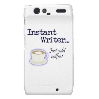 Instant Writer... Just Add Coffee! Motorola Droid RAZR Cover