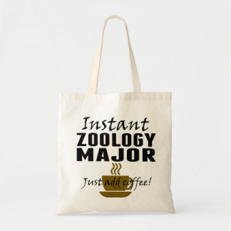 Instant Zoology Major Just Add Coffee Budget Tote Bag
