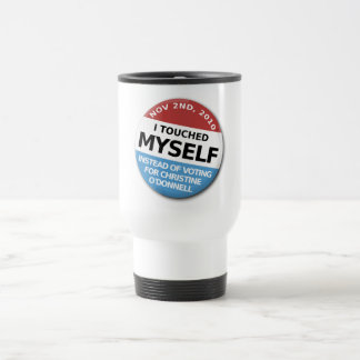 ...Instead Of Voting For Christine O'Donnell 15 Oz Stainless Steel Travel Mug