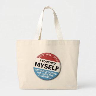 ...Instead Of Voting For Christine O'Donnell Canvas Bag