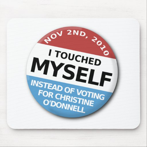 ...Instead Of Voting For Christine O'Donnell Mousepads