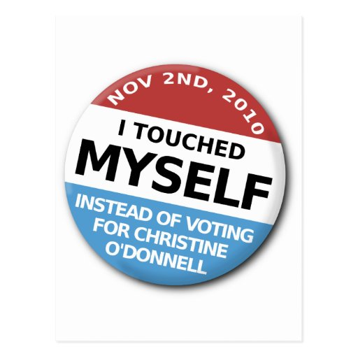 ...Instead Of Voting For Christine O'Donnell Postcard