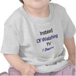 Instead Of Watching TV I Swim T-shirts