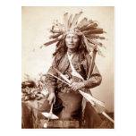 Instigador indio de la rebelión, 1890 postal