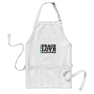 Instigate Peace, Love, and Happiness Adult Apron