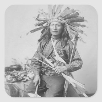 Instigator of Indian Revolt at Pine Square Sticker