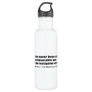 Instigator of War Quote by Samuel L. Clemens 24oz Water Bottle