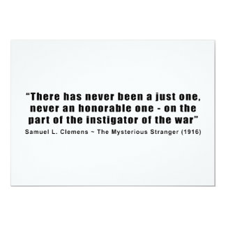 Instigator of War Quote by Samuel L. Clemens Card