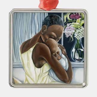 Instinctual Mother Child Collection Metal Ornament