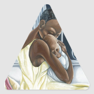 Instinctual Mother Child Collection Triangle Sticker