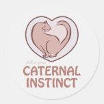 Instinto de Caternal Pegatina Redonda
