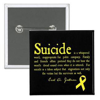 Instinto de la prevención del suicidio con la cita pins