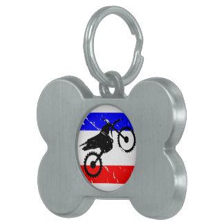 INSTINTO de la Suciedad-Bici de la libertad Placa De Mascota