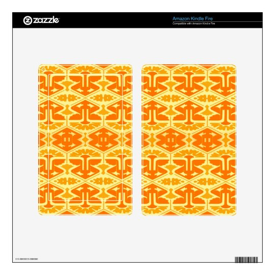 Instinto del art déco - amarillo y naranja pegatina skin para kindle fire