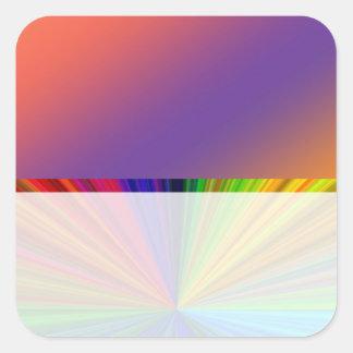 Instinto del color: Compre en blanco o añada la Pegatina Cuadrada