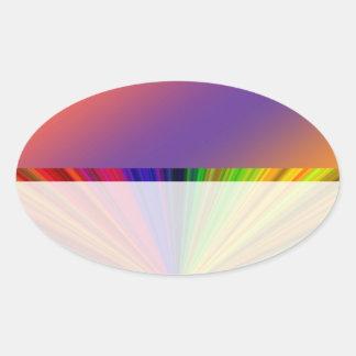 Instinto del color: Compre en blanco o añada la Pegatina Ovalada