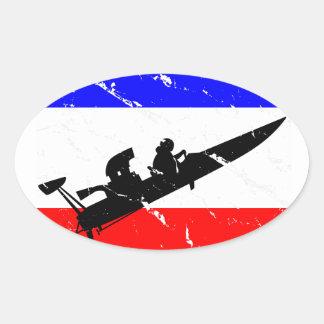 INSTINTO del Fricción-Barco de la libertad Pegatina Ovalada