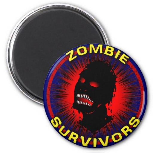 Instinto del icono de los supervivientes del zombi imán de frigorifico