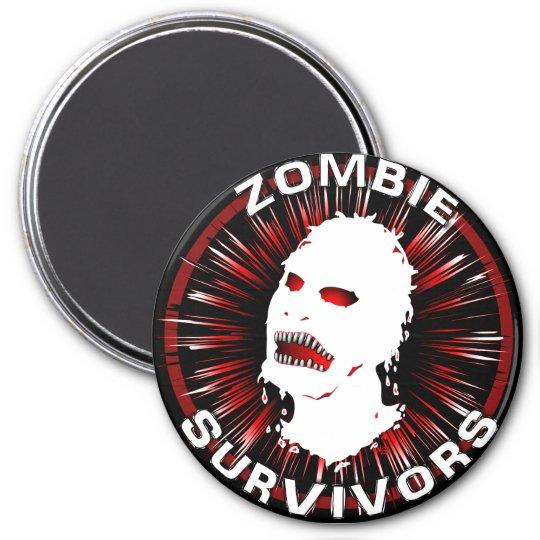 Instinto del icono de los supervivientes del zombi imán redondo 7 cm
