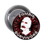 Instinto del icono de los supervivientes del zombi pins