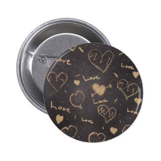 Instinto del Pin/de la serie del amor Pin Redondo De 2 Pulgadas
