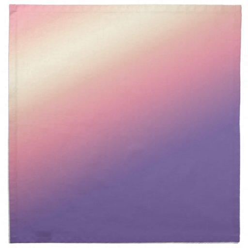 Instinto púrpura: Allows que añade el texto y la i Servilleta Imprimida