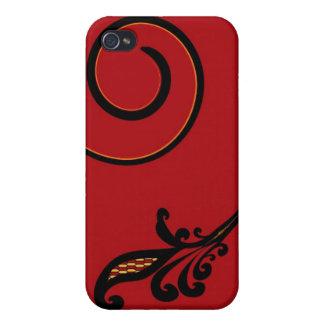 Instinto rojo 4 iPhone 4/4S fundas
