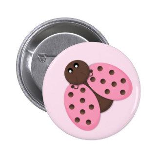 Instinto rosado del botón de la mariquita pins