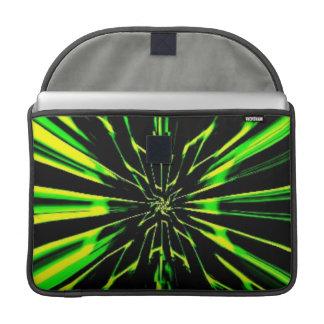 "Instinto verde MacBook Pro 15"" manga de la aleta Fundas Macbook Pro"