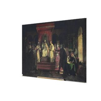 Institución de la orden del Templars Impresión En Lienzo Estirada