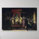 Institución de la orden del Templars Póster