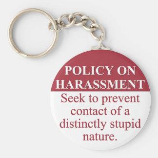 Institución de una política del acoso del idiota ( llavero redondo tipo pin