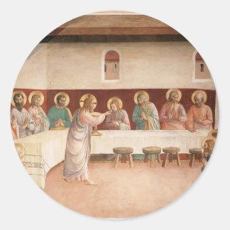 Institución del Fra Angelico- de la eucaristía Pegatinas