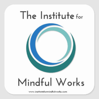 Institute for Mindful Works Logo Gear Square Sticker