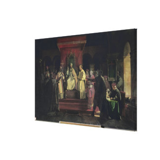 Institution of the Order of the Templars Canvas Print