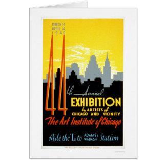 Instituto Chicago del arte WPA 1940 Tarjeta De Felicitación
