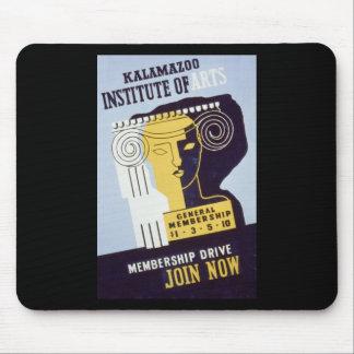 Instituto de artes - poster de Kalamazoo de WPA - Tapete De Ratones