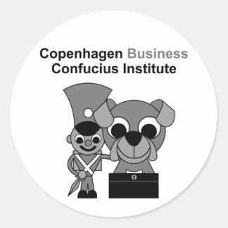 Instituto de Confucio del negocio de Copenhague Pegatina Redonda