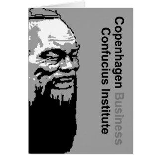 Instituto de Confucio del negocio de Copenhague Tarjeta De Felicitación