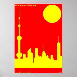Instituto de Confucious - sol de Shangai Impresiones
