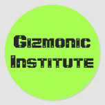 Instituto de Gizmonic Etiquetas Redondas