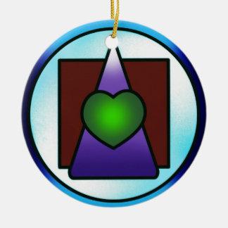 Instituto de la ciencia filosófica divina adorno navideño redondo de cerámica