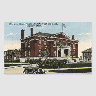 Instituto del empleo de Michigan para las Pegatina Rectangular