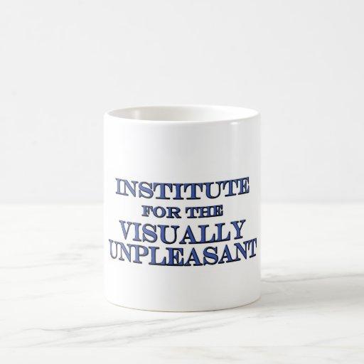 Instituto para el visualmente desagradable tazas