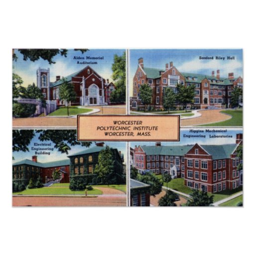 Instituto politécnico de Worcester Massachusetts Póster