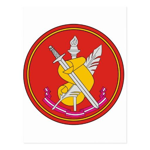Instituto ruso de la historia militar tarjeta postal