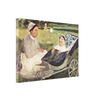 Institutriz de Edgar Degas - de Enrique Valpincon  Lona Envuelta Para Galerías