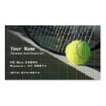Instrucción del tenis plantillas de tarjeta de negocio